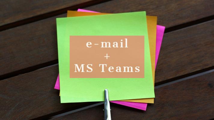 e-mail v MS Teams