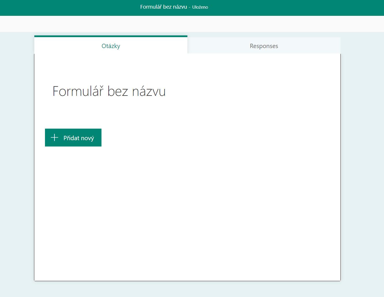 Novy formulář v Microsoft Forms