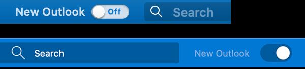 Nový Outlook pro Mac Záhlaví