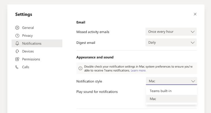Nová notifikace Microsoft Teams pro Mac