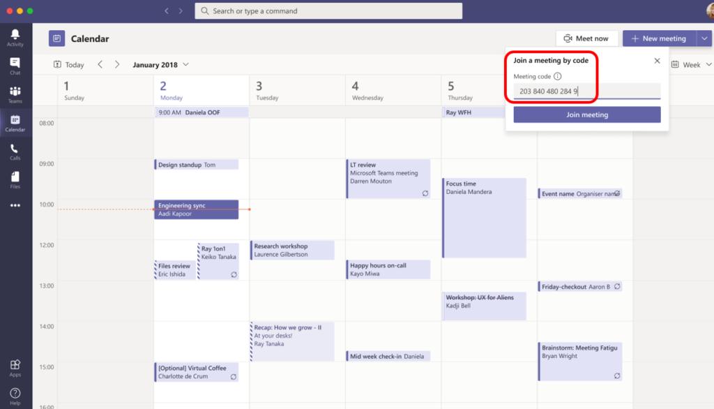 Kalenář v Teams