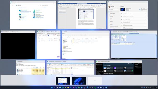 Snadný multitaksing přes více obrazovek